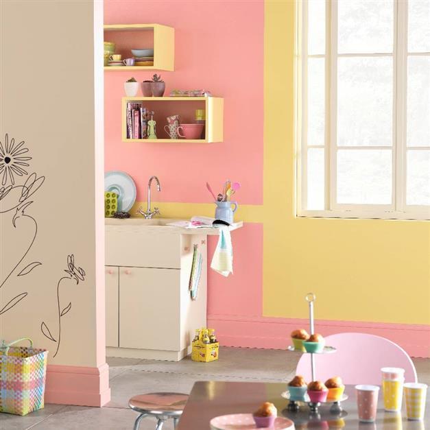 Top 5 des couleurs oser dans une cuisine d coration cuisined coration cuisine for Peinture rose cuisine