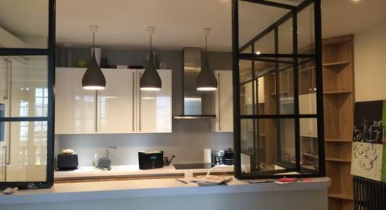 Id es d 39 installation de verri res en photod coration cuisine for Idee installation cuisine