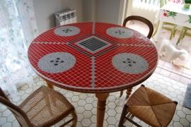 table d'appoint mosaique