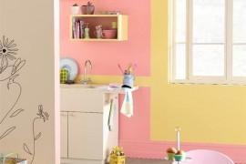 cuisine peinture rose
